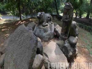 Patung Lembu Nandi di Kebun Raya Bogor