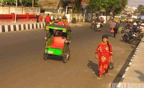 Becak di Kota Bogor