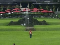 The View of Astrid Park in Bogor Botanical Gardens