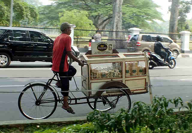 Bread Peddler in Bogor