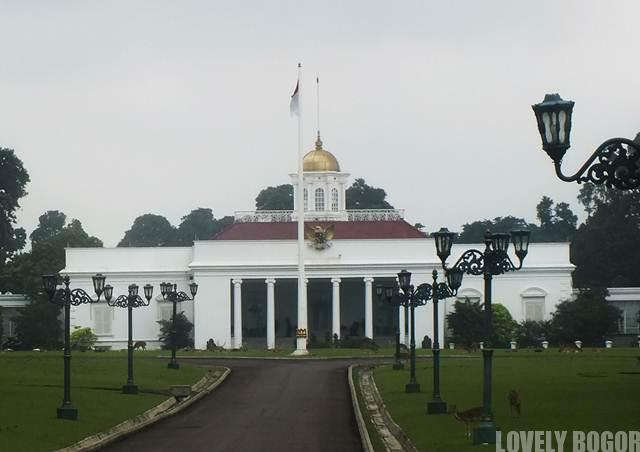 The Front View of Bogor Presidential Palace