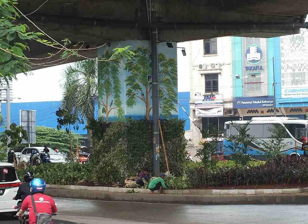 Taman Di Kolong Jalan Tol Lingkar Luar Bogor