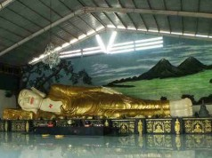 The Giant Sleeping Buddha Statue in Bogor