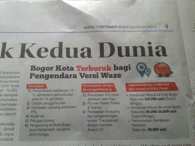 Langkah Mengatasi Kemacetan Kota Bogor