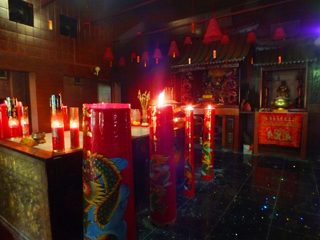 Red Giant Candle in Good Fortune Temple