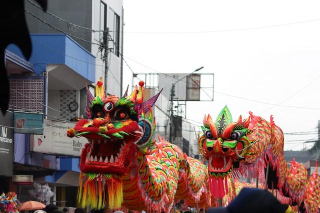 pasangan naga atau liong di cap go meh bogor 2017