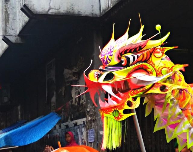 Liong atau Naga Kuning di Cap Go Meh Bogor 2017