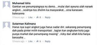 tanggapan netizen terhadap demo dan mogok angkot di Bogor 5