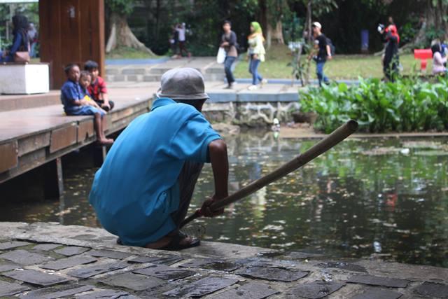 Kakek Petugas Kebersihan di Kebun Raya Bogor 5