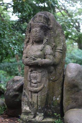Shiva God and Nandi Bull Statue in Bogor Botanical Garden 3