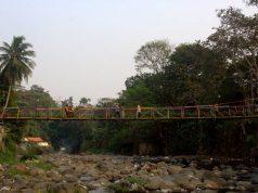 Jembatan gantung warna warni sempur lebak kantin f
