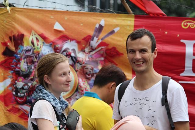 wisatawan asing di festival cap go meh bogor