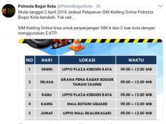 Jadwal SIM KELILING Polres (Online) Bogor Kota C