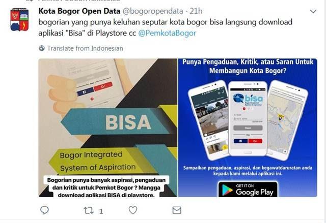 Aplikasi BISA jika Anda Hendak Mengajukan Keluhan Seputar Kota Bogor A