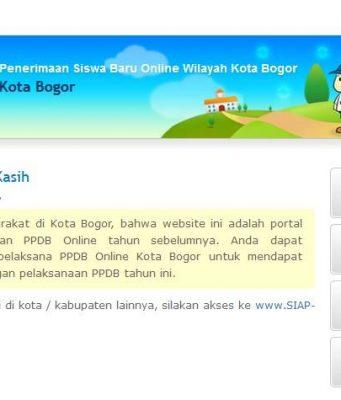 PPDB Online Kota Bogor 2018 - 2019 Hal Yang Harus Diperhatikan Orangtua dan Siswa A