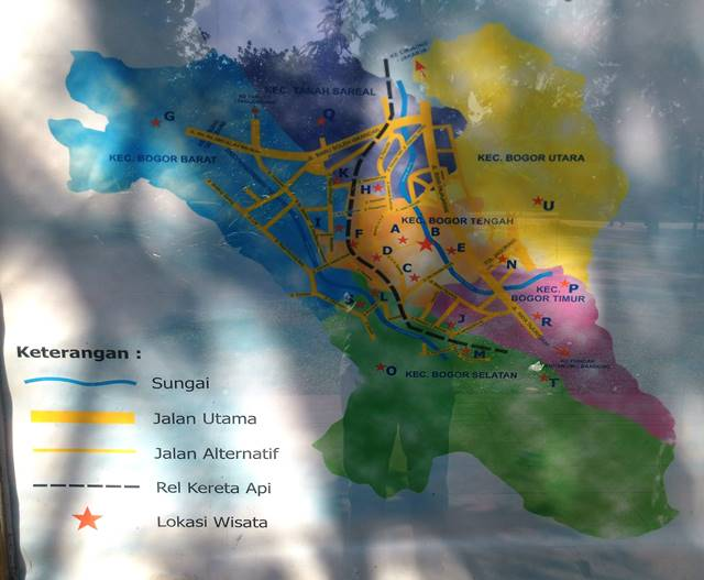 Denah Lokasi Wisata Kota Bogor di Sudut Taman Kencana 3