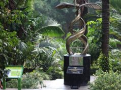 Palm Oil Monument in Bogor Botanical Gardens