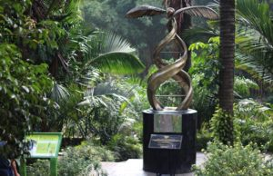 Palm Oil Monument in Bogor Botanical Gardens