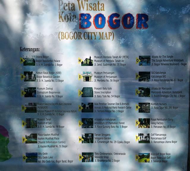 Peta Lokasi Wisata Kota Bogor di Sudut Taman Kencana 2