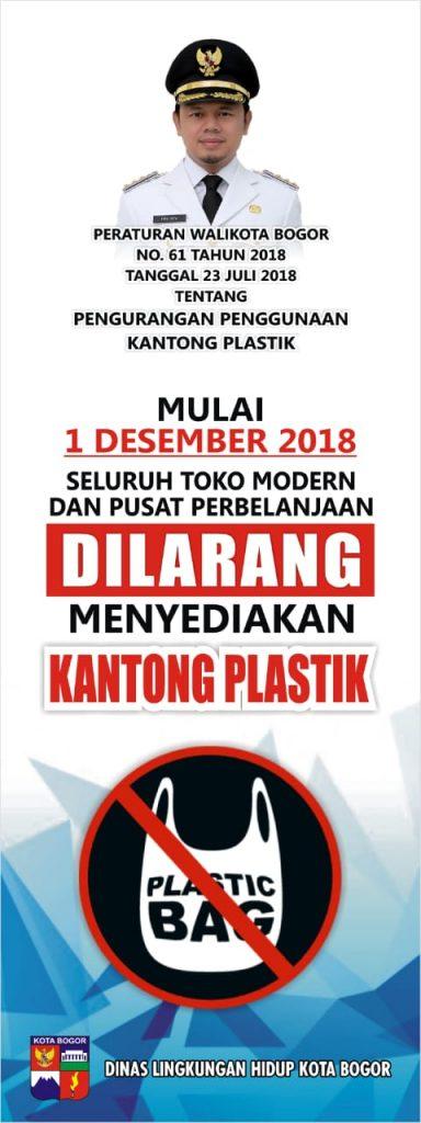 Toko modern dan pusat perbelanjaan Kota Bogor Tidak Menyediakan Kantong Plastik Mulai 1 Desember 2