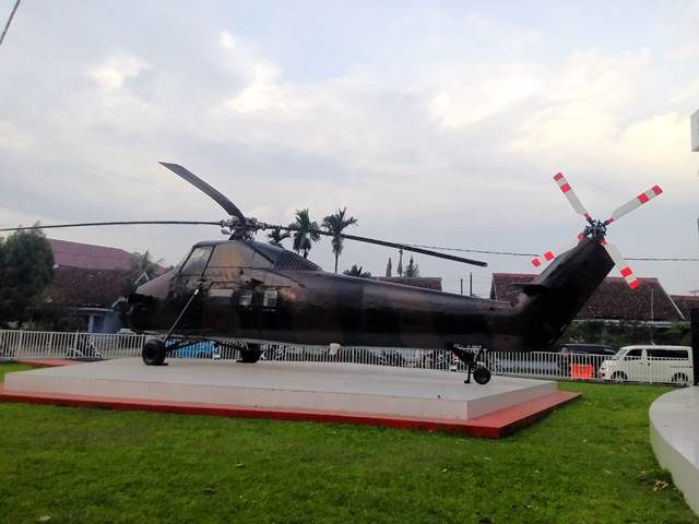 The Sikorsky S-58 or H-34 Monument in Bogor