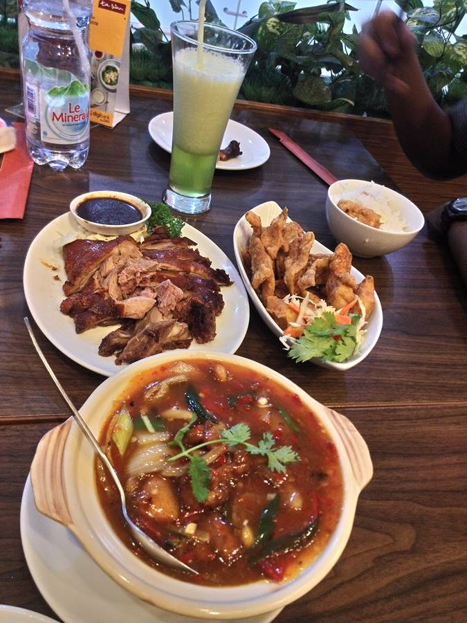 Menu restoran Ta Wan