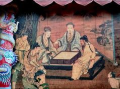 Lukisan Dinding Cantik di Tembok Klenteng Hok Tek Bio BB