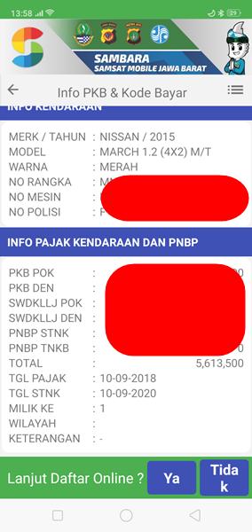 Cara Bayar Pajak Kendaraan Bermotor Dengan Kartu Kredit Lewat e-Samsat Online Tokopedia 2-APLIKASI SAMBARA 3