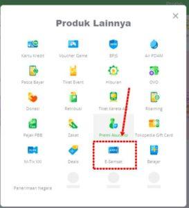Cara Bayar Pajak Kendaraan Bermotor Dengan Kartu Kredit Lewat e-Samsat Online Tokopedia 2-APLIKASI SAMBARA - Menu esamsat A