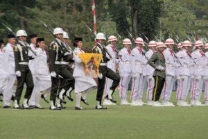Pasukan Pengibar Bendera Kota Bogor Sedang Beraksi