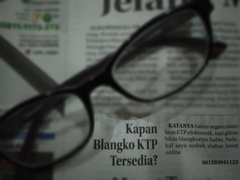 Blangko KTP Kosong Ke MPP (Mal Pelayanan Publik) Ajah A