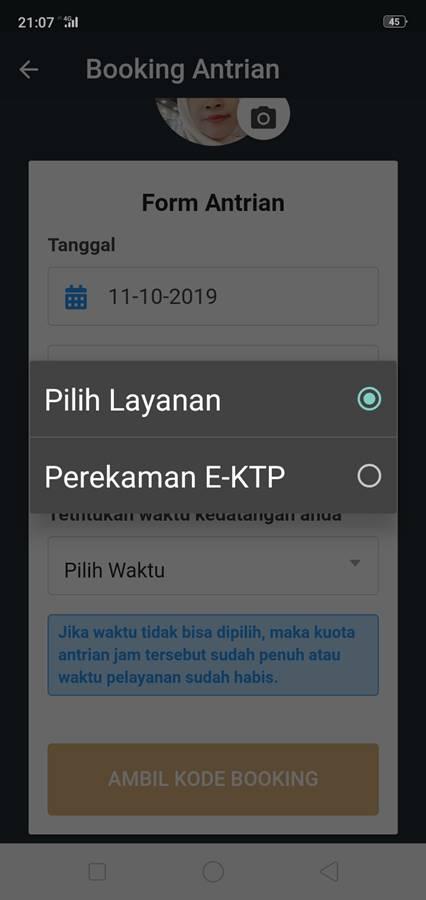 Cara Daftar Booking Antrian Online Di Grha Tiyasa (Mal Pelayanan Publik - MPPP) Kota Bogor H - Jenis Layanan