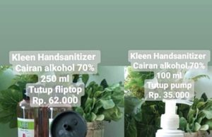 hand sanitizer kleen dan KanGen Water Strong Acid A