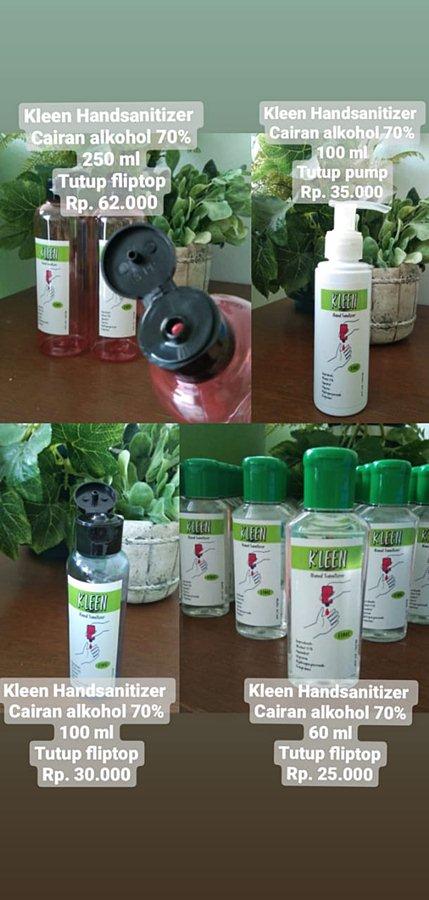 hand sanitizer kleen dan KanGen Water Strong Acid A
