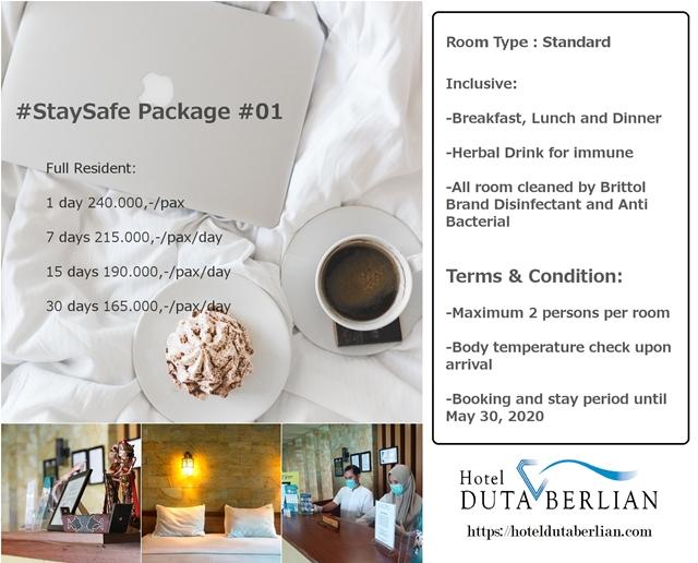 paket 1 paket staysafe hotel duta berlian